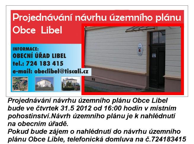 Návrh územního plánu Obce Libel
